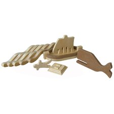 Jonah and The Whale Wooden Pieces