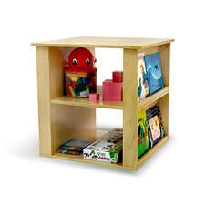 <strong>A+ Child Supply</strong> 2 in 1 Toy Book Cube Shelf