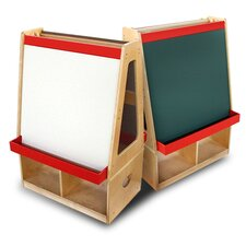 Easel with Storage Compartments