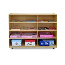 <strong>A+ Child Supply</strong> 4-Shelf / 4-Cubby Unit with Casters