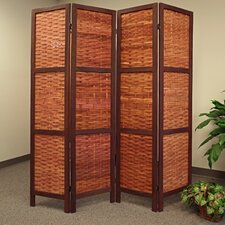 "<strong>Proman Products</strong> 67"" x 61"" Saigon Folding Screen 4 Panel Room Divider"