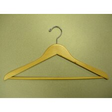 Genesis Flat Suit Hanger with Wooden Bar (Set of 50)