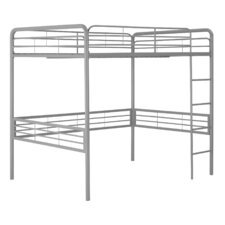Full Metal Loft Bed with Built in Ladder