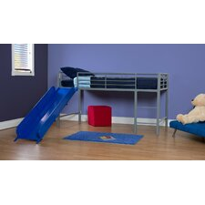 Junior Twin Loft Bed with Built-In Ladder and Slide