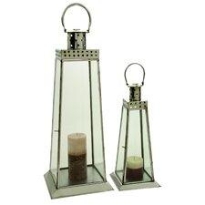 2 Piece Stainless Steel Lantern Set