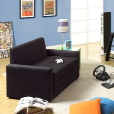 Double Sleeper Chair in Rich Black