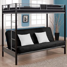 Twin over Futon Screen Loft Bed with Built-In Ladder