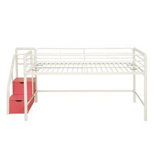 <strong>DHP</strong> Junior Twin Loft Bed with Storage Steps
