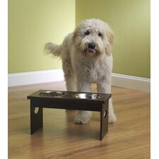 Elevated Dog Feeder with  Bowls