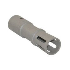 Ruger 10/22 Long Muzzle Brake in Silver