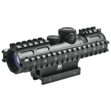 <strong>NcSTAR</strong> 2-7x32 Compact Scope 3 Rail Sighting System / Blue Illuminated P4 / Weaver Mount / in Green