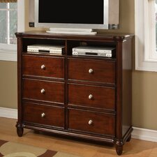 <strong>Greystone</strong> Ethan 6 Drawer Media Chest