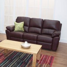 Monzano Leather 3 Seater Reclining Sofa