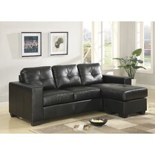 <strong>Furniture Link</strong> Gemona Bonded Leather 3 Seater Sofa