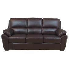 Monzano Leather 3 Seater Sofa Bed