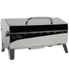 "23.25"" Stow N' Go 160 Gas Grill with Regulator, Thermometer and Igniter"