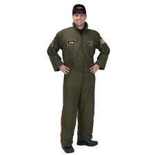 Adult Armed Forces Pilot Suit with Embroidered Cap Costume