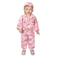 Jr. Camouflage Suit with Cap for 18 Months Costume in Pink