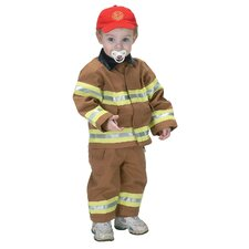 Jr. Fire Fighter Suit for 18 Months Costume in Tan
