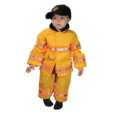Jr. Fire Fighter Suit for 18 Months Costume in Yellow