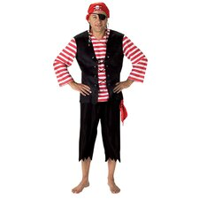 Adult Pirate with Pirate Bandanna Costume