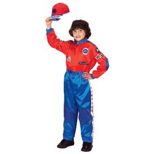 Jr. Champion Racing Suit with Cap Costume in Red / Blue