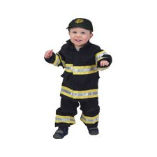 Jr. Fire Fighter Suit for 18 Months Costume in Black