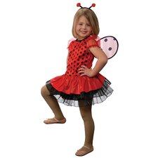 Lady Bug with Antennae Headband and Detachable Wings