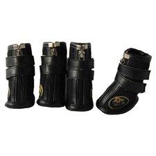 Ruff Kicks Suede Dog Shoes in Black