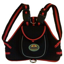 Fashion Mesh Dog Harness with Back Pouch