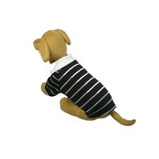 Fashion Collared Striped Polo T-Shirt for Dogs