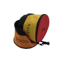 Zipper Double Pet Bowl for Travel