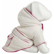 <strong>Pet Life</strong> Two-Tone Jewel Dog Jacket with Hood in Beige / Pink