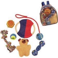 8 Piece Backpack Pet Toy Set