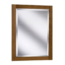 "Amalfi Series 24"" x 33"" Red Oak Framed Mirror in Autumn Finish"
