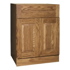 "Amalfi Series 24"" Red Oak Bathroom Vanity Base"