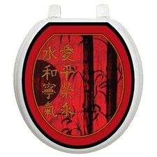 <strong>Toilet Tattoos</strong> Themes Red Delight Toilet Seat Decal