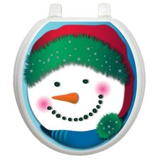 Holiday Snowman Toilet Seat Decal