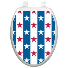 Seasonal Stars and Stripes Toilet Seat Decal