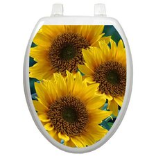 Themes Sun Kissed Sunflowers Toilet Seat Decal
