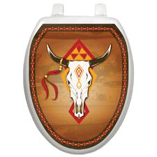Themes Southwest Cow Skull Toilet Seat Decal