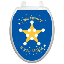 <strong>Toilet Tattoos</strong> Toilet Training Twinkle Star Toilet Seat Decal
