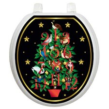 Holiday Twelve Days Of Christmas Toilet Seat Decal