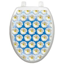 <strong>Toilet Tattoos</strong> Wallpaper Daisies Toilet Seat Decal