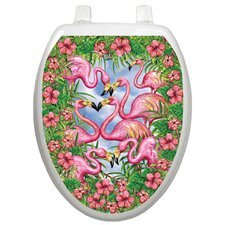 Themes Flamingos Fancy Toilet Seat Decal