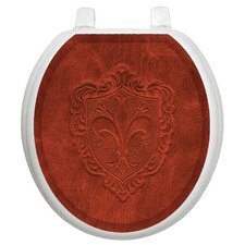 Classic Embossed French Lily Toilet Seat Decal