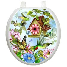 Themes Hummingbirds Toilet Seat Decal