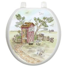 Themes Lori's Outhouse Toilet Seat Decal
