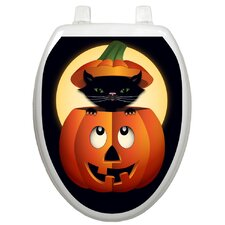 Seasonal Peek-A-Boo Kitty Toilet Seat Decal