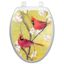 Themes Cardinal Toilet Seat Decal